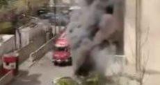 حريق فى لبنان