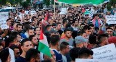 مظاهرات تضامن مع الشعب الفلسطيني