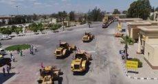 معدات مصرية تدخل غزة