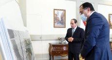 الرئيس السيسى يتايع مخطط حديقة تلال الفسطاط