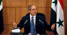 وزير الخارجية السورى فيصل المقداد
