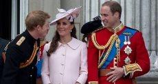 الأميران وليام وهارى وكيت ميدلتون