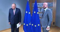 وزير الخارجية سامح شكرى يلتقى رئيس المجلس الأوروبى