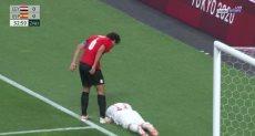 أحمد ججازى يظهر باداء رجولى مع المنتخب الاولمبى أمام اسبانيا