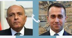 شكرى يتلقى اتصالا هاتفيا من وزير خارجية إيطاليا