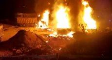 انفجار خزان وقود فى عكار