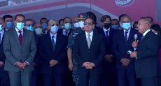 تفقد الرئيس السيسى اصطفاف عربات المونوريل والقطار السريع