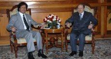 الرئيس الجزائرى عبد العزيز بوتفليقة وأحمد قذاف الدم