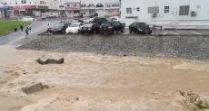السيول تملئ الشوارع