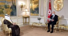رئيس تونس ووزير خارجية الكويت